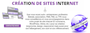 tCréation de sites Internet